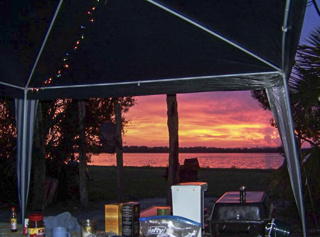 Enjoy the sunrise or sunset at the campground