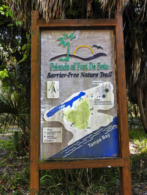 Barrier Free Sign at the Trail Entrance