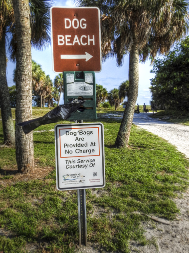 Fort De Soto Dog Beach Sign