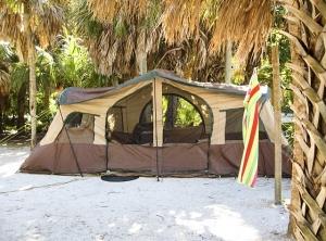 Tent camping at Fort De Soto