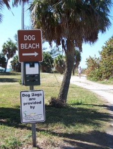 Dog Bags are provided by Friends of Fort De Soto