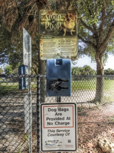Fort De Soto Paws Park sign