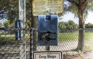 Fort De Soto Paws Park sign