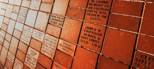 Memorial Bricks Fort De Soto close up