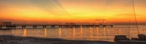 Gulf Pier Sunset